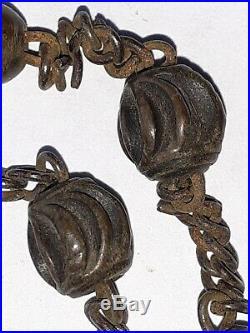 Chapelet ancien avec grain sculpté christ et vanité