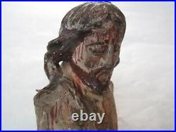Christ en bois sculpté ancien 16/17ème siècle