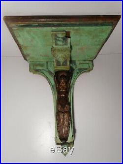 Console ancienne GUERET FRERES 19 siècle bois sculpté sculpture statue bronze