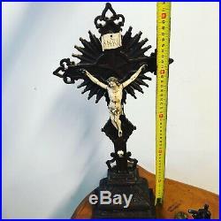 Crucifix Ancien Christ Bois Sculpté Napoléon III Forêt Noire