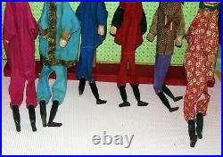 ENS 5 GRANDE Marionnettes a main anciennes Tête de bois SCULPTES Punch/Guignol