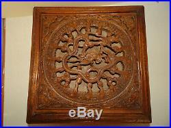 Grand Coffret Boite Ancienne En Bois De Rose Sculpte. Chine. Rosewood