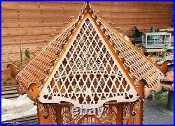 Grande Cage A Oiseaux Vintage/bois découpé/cage en bois ancienne/cage sculptée
