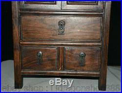 Huanghuali bois sculpté à la main meubles anciens casier armoire armoire coffre