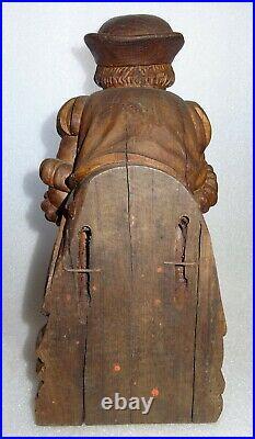 L' apothicaire et son mortier bois sculpté d'applique ancien