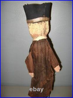 Lot De 6 Ancienne Marionnette Theatre De Guignol-tetes En Bois Sculpte-xix Eme