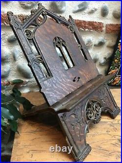 Lutrin ancien en bois sculpté fin XIX-XX/Livre, bibliothèque, bible, autelmesse