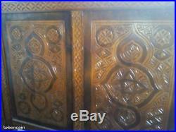 Meuble marocain tour de lit sculpte ancien vintage