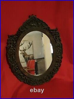 Miroir Ancien chinois en bois sculpté