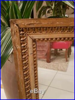 Miroir ancien bois sculpté, époque Louis XVI XVIII ème s