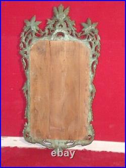 Miroir ancien de style Baroque Louis XV en bois sculpté et laqué XVIIIe