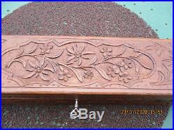 Ombrelle Ancienne En Soie Pliante Dans Sa Boite En Bois Sculptee 1900