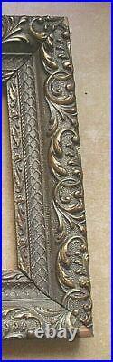 Paire Cadres anciens XIXème moulurés dorés patine ancienne Paire de cadres dorés
