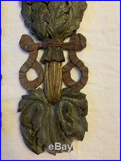 Paire de guirlandes en bois sculpté, Tres anciennes XVII XVIII Haute Epoque