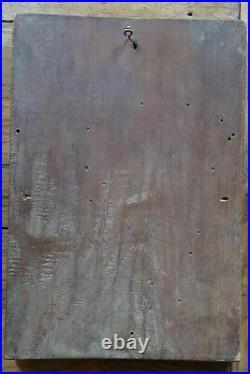 Panneau reliquaire bois sculpté ancien