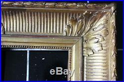 Petit cadre ancien 15 x 15cm Bois sculpté et doré