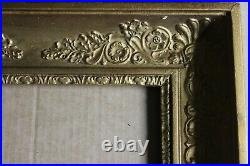 Petit cadre empire ancien 25,5cm x 23cm XIXème Bois Stuc sculpté et doré