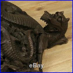 Porte- pot chinoise meuble sculpture en bois sculpté style ancien salon 900