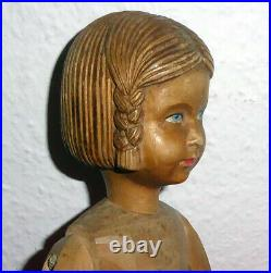 Poupee /buste MANNEQUIN. Ancien en bois sculptee bras articules