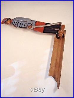 RARE Ancien plumier militaire soldat poilu bois sculpté guerre 14-18 France