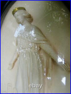 RELIQUAIRE ancien SAINT LOUIS ÉCUME de MER sculptée CADRE NAPOLÉON III