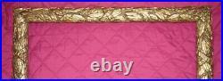 Rare Ancien Cadre Rectangulaire Larges Feuilles Laurier Style Barbizon 19eme