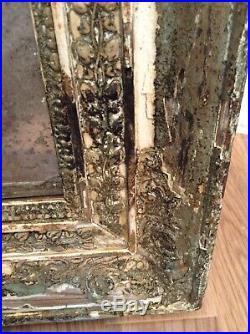 Rare Ancien Miroir, cadre en Bois sculpté