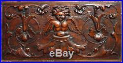 Sculpture Panneau de bois sculpté ancien Ange style 17e siècle