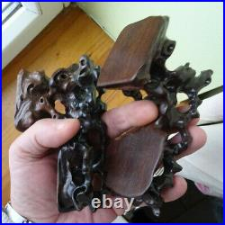 Socle, ou support bois sculpté chineese CARVED WOOD ancien asia wiet indochine
