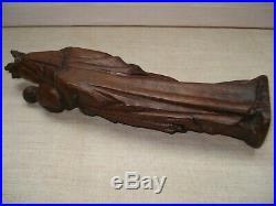 Statuette Vierge à l'Enfant Bois sculpté Ancienne