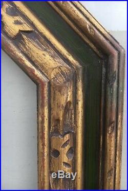 Style Ancien Cadre Photo Art Déco Art Nouveau Vert or 1920 50,8 x 40,6 Sculpté