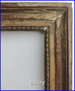Superbe CADRE Ancien XVIIIe en Bois sculpté Doré à la Feuille d'Or