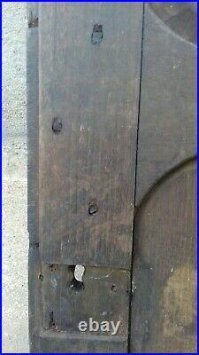 Superbe ancienne porte en bois sculptée