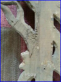 Superbe grand panneau bois sculpté ancien