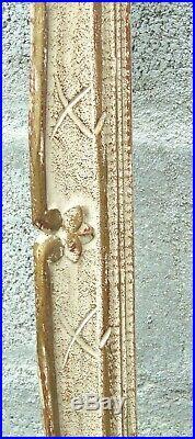 TRES GRAND CADRE MONTPARNASSE ANCIEN BOIS SCULPTE Patiné TABLEAU DECORATION N°1