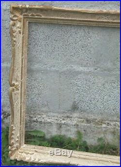 TRES GRAND CADRE MONTPARNASSE ANCIEN BOIS SCULPTE Patiné TABLEAU DECORATION N°2