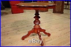 Table basse en bois meuble sculpté acajou chevet style ancien 900 XX antiquité