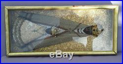 Tableau Ancien Religieux Vierge Noire Tete Bois Sculpte Black Virgin Religious