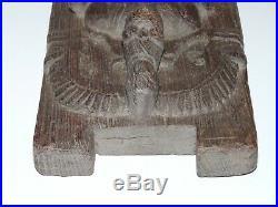 Tres Ancien Panneau De Bois Sculpte Divinite Ganesha Ganesh Xviii-xix Bas Relief