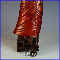 Une Paire de Ancien Chinoises Sculpté Ox/Taureau Cornes Deity à Bois Supports