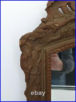 XVIII ème s, Miroir Ancien en bois sculpté