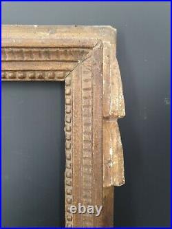 XVIII ème s, ancien cadre en bois sculpté époque Louis XVI