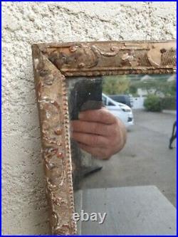 XVIII ème s, miroir ancien bois sculpté, cadre à la bérain