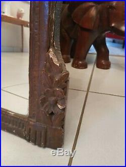 XVIII ème s, miroir ancien en bois sculpté patiné Louis XVI